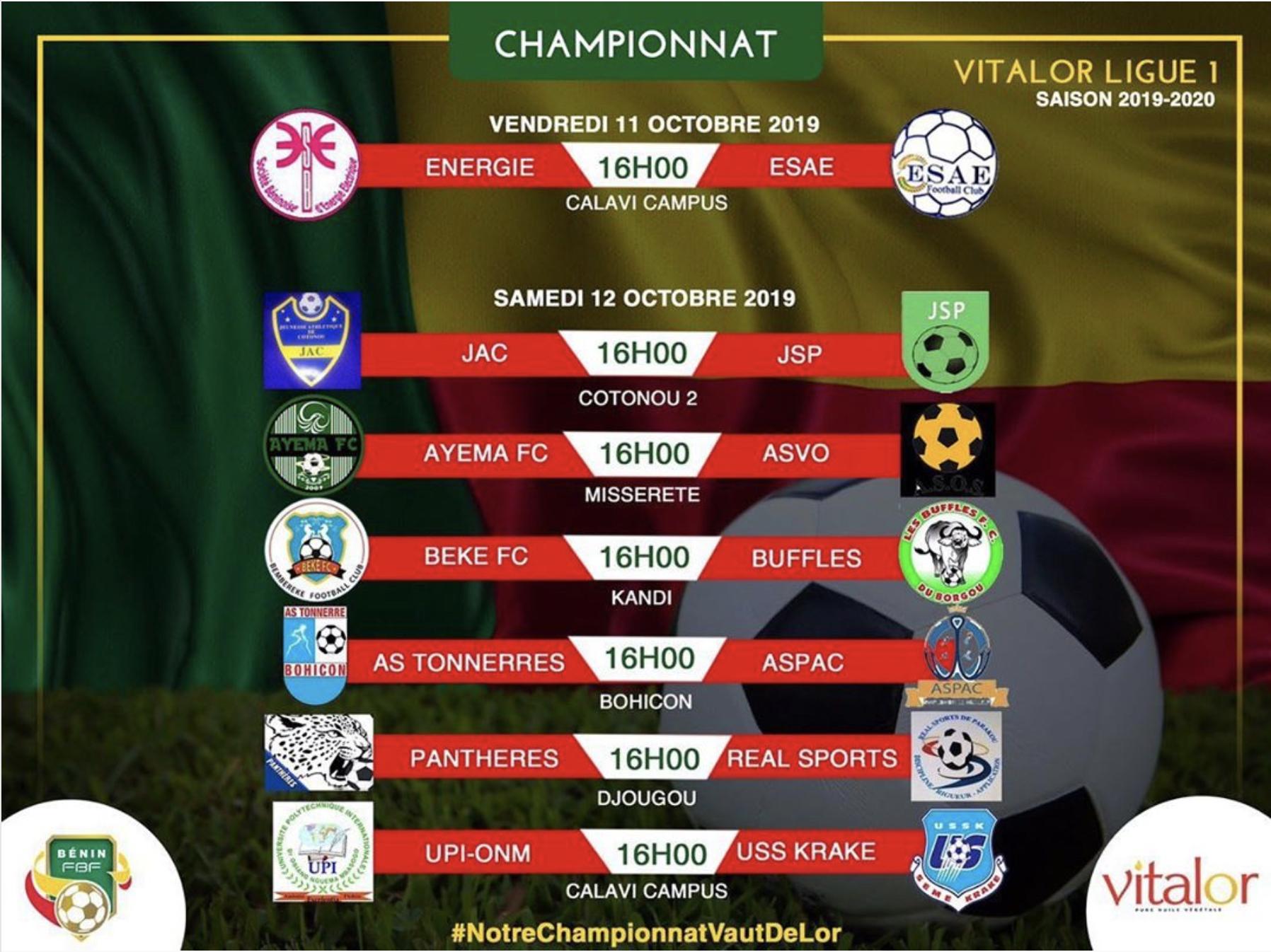 Calendrier Ligue 1 2019 2020.Vitalor Ligue 1 Saison 2019 2020 Esae Fc